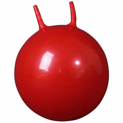 """L 2350b Мяч гимнастический """"попрыгун"""" 50см в коробке с насосом (красный)"""