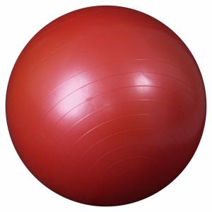 L 0165b_Мяч гимнастический для фитнеса 65см в коробке с насосом(красный)