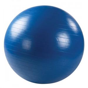 L 0775b_Мяч гимнастический c АБС для фитнеса 75см в коробке с насосом(синий)