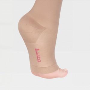 ID-330L Моноколгота «LUOMMA IDEALISTA», левая, карамель, 2 кл. компрессии, длинные, открытый носок