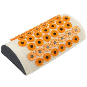 """МА02 Массажер медицинский """"Тибетский аппликатор магнитный"""" на мягкой подложке, валик для шеи желтый"""